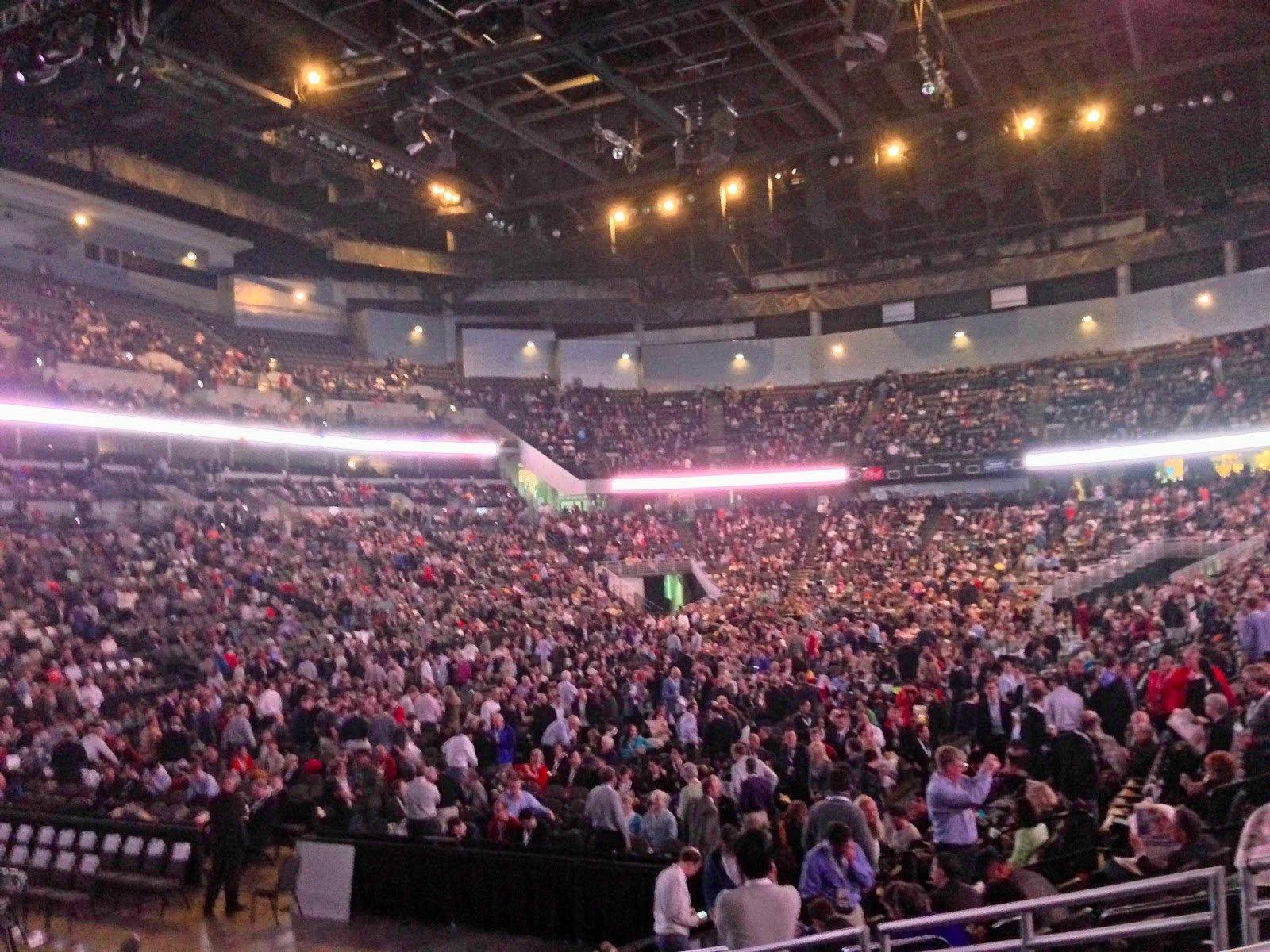 A stadium full