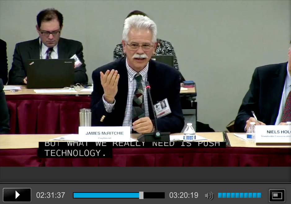 James McRitchie at SEC Proxy Voting Roundtable