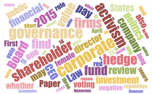 Recent Corporate Governance Research Part 1 2015