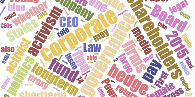 Recent Research in Corporate Governance Part 2 2015