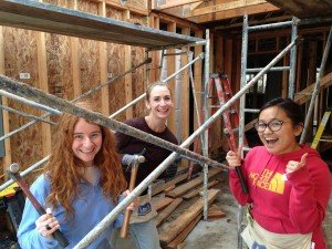 CivicSpark Sacramento Regional Team volunteering with Habitat for Humanity as part of AmeriCorps Service Day