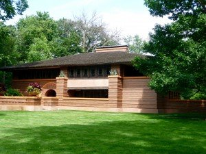 Frank Lloyd Wright designed home in Oak Park