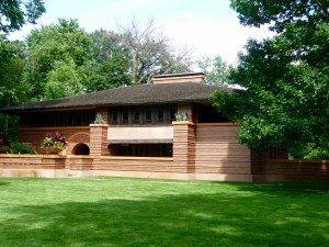 Frank Lloyd Wright designed home in Oak Park