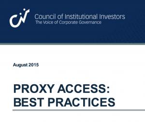 CII - Proxy Access: Best Practices