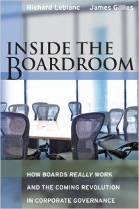 Inside the Boardroom by Richard LeBlanc
