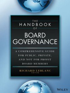 The Handbook of Board Governance by Richard LeBlanc and John Fraser