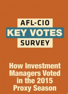 AFL-CIO Key Votes Survey 2015