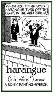 Haranguing