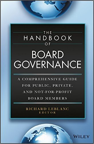 The Handbook of Board Governance - book cover