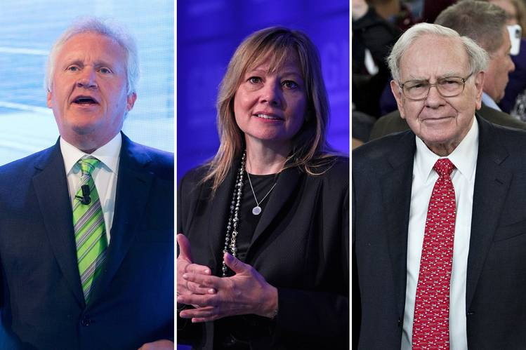 General Electric CEO Jeffrey Immelt, left, GM CEO Mary Barra and Berkshire Hathaway Chief Executive Warren Buffett contributed to the governance principles. PHOTO: CHRISTOPHE MORIN/BLOOMBERG NEWS, DANIEL ACKER/BLOOMBERG NEWS, BILL PUGLIANO/GETTY IMAGES