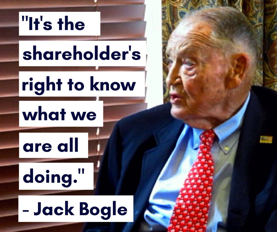 John Bogle on shareholder rights