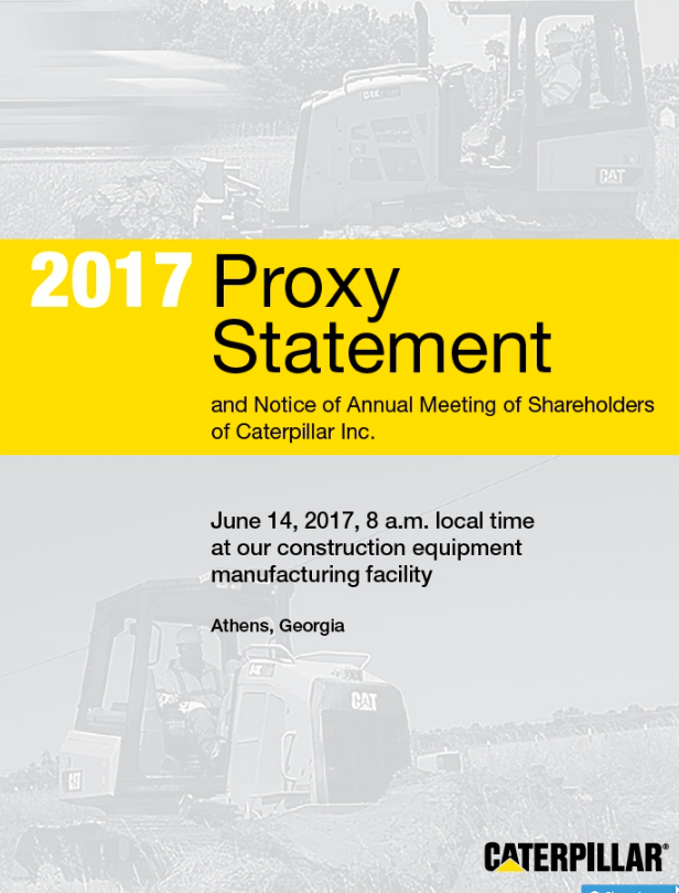 Caterpillar Inc Proxy Statement