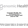 Genomic Health proxy 2017