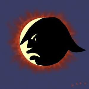 Trump face - Happy Eclipse Day - Thanks to The New Yorker