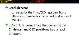 Lead Director - Non-Executive Chair
