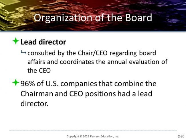 What Are The Key Differences Between An Executive And A Non >> Lead Director Non Executive Chair Evolving Corporate Governance
