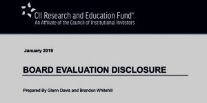 CII Guide to Disclosure of Board Evaluation Processes