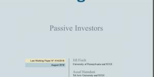 Index Funds - Jill Fisch