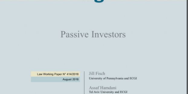 Index Funds - Jill Fisch