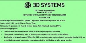 3D Systems 2019