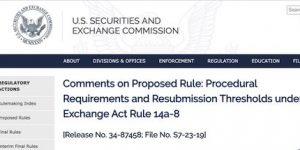 SEC Release S7-23-19 Comments Due Today