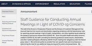 SEC Staff COVID-19 Guidance
