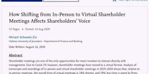 Virtual Shareholder Meetings