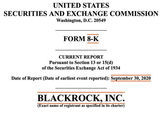 BlackRock 8-K