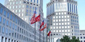 Procter & Gamble headquarters building in Cincinnati. Photo shot by Derek Jensen (Tysto), 2005-August-09